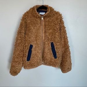 J. Crew teddy bear jacket- sized 6/7